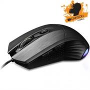 Myš Canyon CND-SGM5 hráčska, drôtová, optická, 400/800/1600/3200 dpi, 125/500/1000Hz, 3600 fps, 30g, 6 tlačidiel, USB, čierna