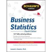 Schaum's Outline of Business Statistics by Leonard J. Kazmier