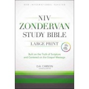 NIV Zondervan Study Bible, Large Print: Built on the Truth of Scripture and Centered on the Gospel Message [Black/Gray Duo-Tone] by D. A. Carson