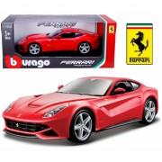 Bburago model auto Ferrari F12 Berlinetta rood