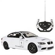 Rastar - BMW M3, coche teledirigido, escala 1:14, color blanco (ColorBaby 85018)