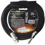 Santo Angelo ANGL HG Straight 1/4-Inch Plug to XLR Female Microphone Cable - 25 Feet