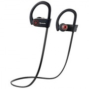 Bluetooth Sport Headphones with Mic Wireless Noise Cancelling Technology Sweatproof Stays on Over Ear Running By SOMALEX Sports & Outdoors Exercise Earbuds Stereo Headset Workout