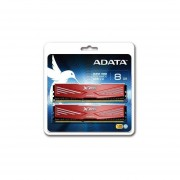 ADATA XPG V1.0 8GB Destktop Memory - DDR3 1600, 2 X 4GB, Red (AX3U1866W4G10-DR)