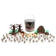 Dinosaur Skeleton Action Figures - Big Bucket of Skeleton Dinosaurs - Huge 75+ Piece Set Full of Unique Fun