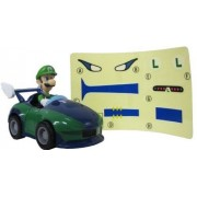 "Wii Mario Kart Racing Collection 3 Pull Back Cars w/ Stickers-2.5"" Luigi-994173"