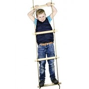 6 Ft. Rope Climbing Ladder For Kids Jungle Gym Or Swing Set Accessories