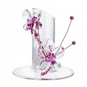 Figurina cristal Preciosa - Flowery Candle Holder (Pink)
