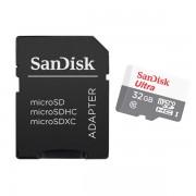 Tarjeta MicroSDHC 32GB Clase 10 UHS-I SanDisk Ultra SDSQUNB-032G-GN3MA (adapt)