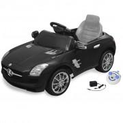 vidaXL Електрическа кола Mercedes SLS AMG, черна, 6V с дистанционно