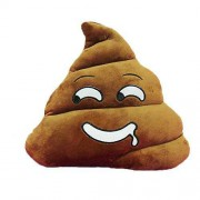Soft Smiley Emoticon Dark Brown Cushion Pillow Stuffed Plush Toy Doll (Hungry Poo)