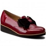 Обувки SAGAN - 2727 Bordowy Lakier/Czarny Welur