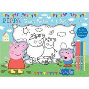Peppa Pig Giant Poster Art Set with Crayons