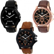Armado AR-226281 Combo Of 3 Dashing analog Watches-For Men