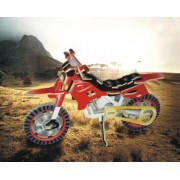 Puzzled Colorful Wood Craft Construction Dirt Bike 3D Jigsaw Puzzle by Puzzled