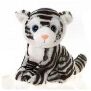 9 Sitting White Tiger with Big Eyes Plush Stuffed Animal Toy by Fiesta Toys