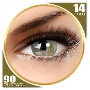 Adore Adore Bi Tone Yellow - lentile de contact colorate verzi/caprui trimestriale - 90 purtari (2 lentile/cutie)