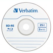 BluRay Disc Rewritable BD-RE Blank Verbatim 2x 25GB in carcasa