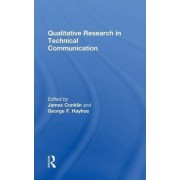 Qualitative Research in Technical Communication by James Conklin