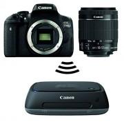 Canon EOS 750D Fotocamera Reflex Digitale, 24 Megapixel, Obiettivo EF-S 18-55 mm IS STM, Nero/Antracite + Canon Connect Station CS100 Sistema di Archiviazione Immagini, Hard Disk Interno 1 TB, Memorizzazione su Cloud, Nero