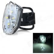HJ-031 100lm 4 modos de luz blanca de LED de advertencia de la lampara de cola - Negro + blanco