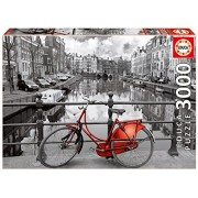 Educa Amsterdam with Red Bike Puzzle, 3000-Piece
