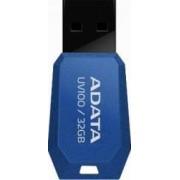 USB Flash Drive ADATA Slim Bevelled UV100 32Gb USB 2.0 Blue