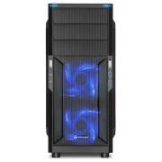 Sharkoon T3-W táp nélküli (cu fereastră, albastru LED)