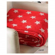Patura fleece pufoasa Stars - Rosu