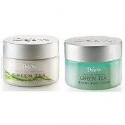 Lot of 2 Items: Deja Vu dead Sea Body Butter +Salt Scrub green tea