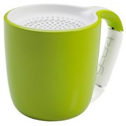 GEAR4 Espresso Small Coffee Cup Style Bluetooth Speaker with Carabineer Handle Clip in Green(PS006GNG)
