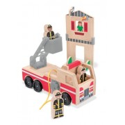 Melissa and Doug Whittle World - Bomberos y camión