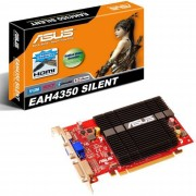 ASUS EAH4350 SILENT/DI/512MD2(LP) - Carte graphique - Radeon HD 4350 - PCI Express 2.0 x16 faible encombrement - 512 Mo DDR2 - DVI, HDMI ( HDCP )