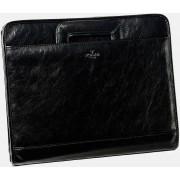 Babila Leather Folio With Retractable Handles 7121li - Black