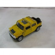 2005 Hummer H2 SUT In Yellow Diecast 1:40 Scale By Kinsmart