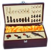 Cutie pentru sticle de vin accesorii vin si joc de sah