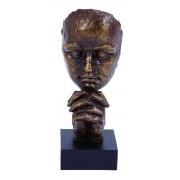Thinking Man Sculpture In Polystone
