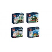 Lego Exclusive 2015 Bricktober Set Of Four Hotel (40141), Train Station (40142), Bakery (40143), Toys R Us (40144)
