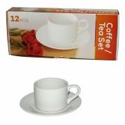 Set za kavu/čaj, bijeli 12-dijelni