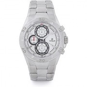 Titan Quartz White Round Men Watch 9308SM01