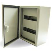 600x400x260mm maszkolt fém elosztószekrény, IP65