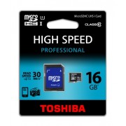 Toshiba Scheda di Memoria Micro SD Professional con Adattatore SD, 16 GB, Nero