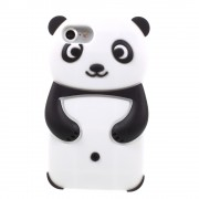 Rilakkuma silicone hoesje 3D Panda iPhone 7 Zwart Wit case