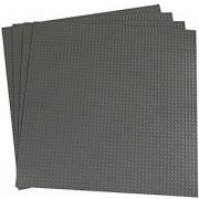 15.75 X 15.75 Gray Construction Base Plates - 4 Pack Bundle - LEGO Compatible