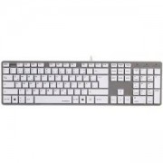 Клавиатура Rossano, USB, безшумни клавиши, Сива, HAMA-50453