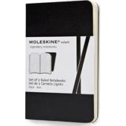 Moleskine Volant Extra Small Ruled Black by Moleskine