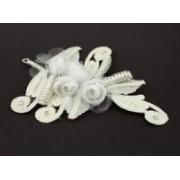 Svatební bižuterie do vlasů perličky květiny 5467-2 5467-2
