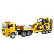 camion MAN tga cu buldoescavator JCB4cx