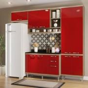 Kit Cozinha 4 Módulos MDP com Pintura UV Texturizada e Lacca AD