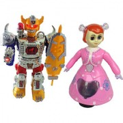 Combo Of Dancing Robot beat the megnum With musical doll for kids